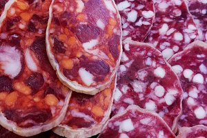 Chorizo and salchichon from Spain