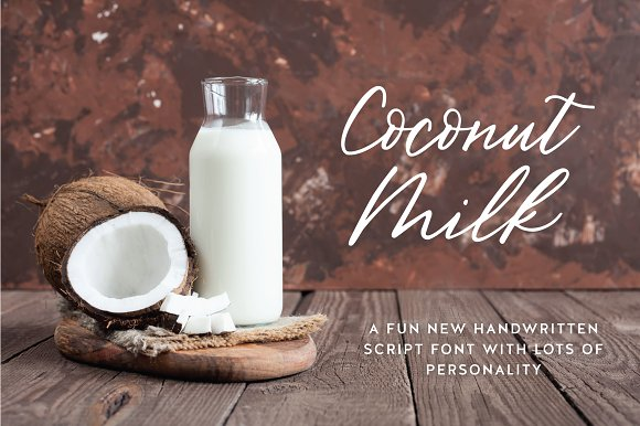 Coconut Milk Script in Script Fonts