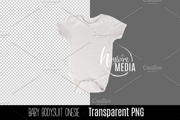 PNG Cutout Blank White Baby Onesie