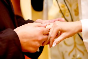 Wedding ceremony - putting a ring