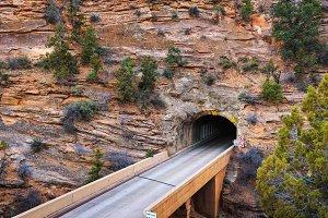 Mount Carmel Tunnel in Zion National Park, Utah