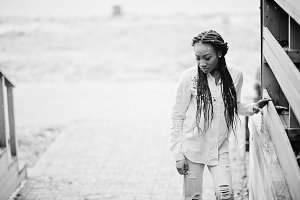 African american girl in dreads