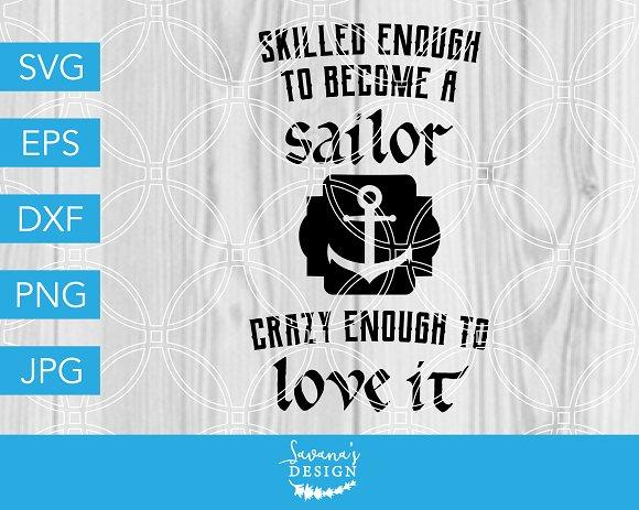 Sailor SVG Navy Army Veteran Fishing