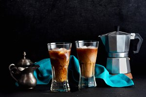cold brew coffee on the table. coffe