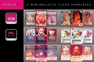 (Sale -60%) 6 Flyer Templates Bundle