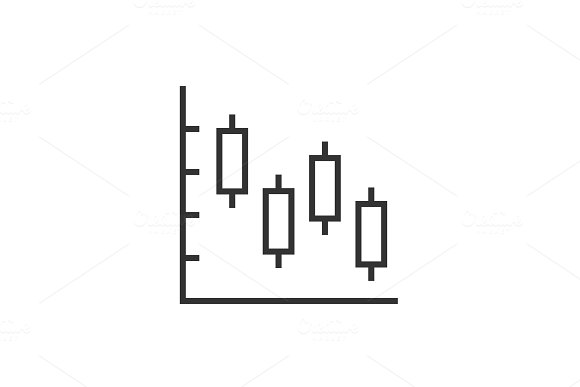 Candle Stick Chart Icon
