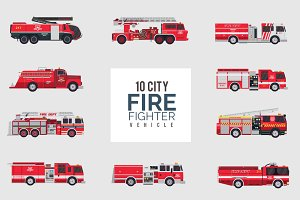 City Firefighter Vehicle Pack
