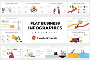 Flat business infographics