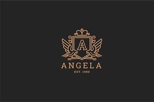 Letter A Logo - Heraldic,Crest Logo