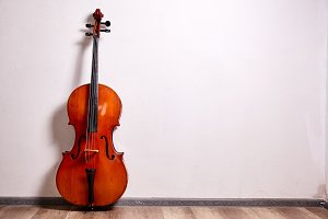 Old retro cello