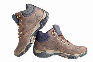 Pair of new hiking boots