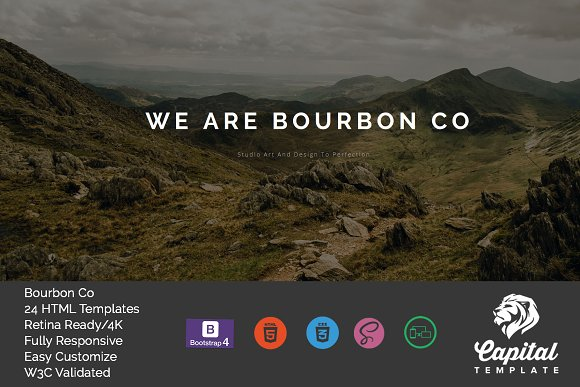 Bourbon One Page MultiPage Template