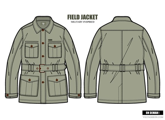 men field jacket fashion template illustrations creative market