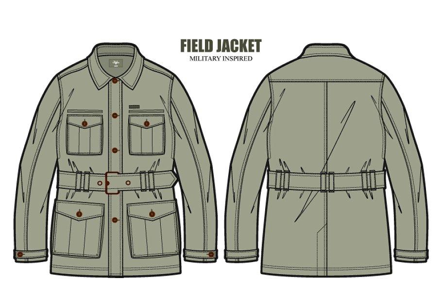 3f77d9f858 Men Field Jacket Fashion Template ~ Illustrations ~ Creative Market