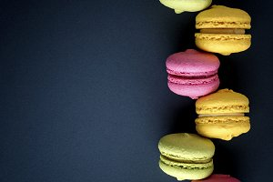 multicolored cakes macarons