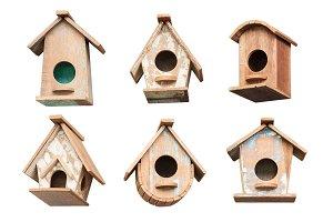 bird houses isolated