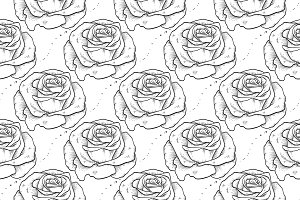 Vector rose seamless pattern