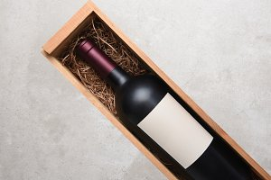 Cabernet Bottle in wood box