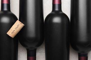 Napa Valley Cork on Bottles
