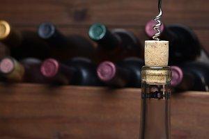 Pulling a cork
