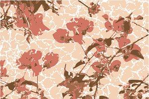Textured Vintage Floral Motif