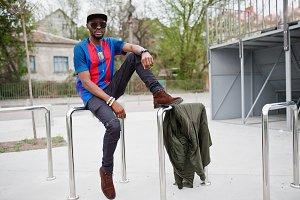 African american boy in sport wear