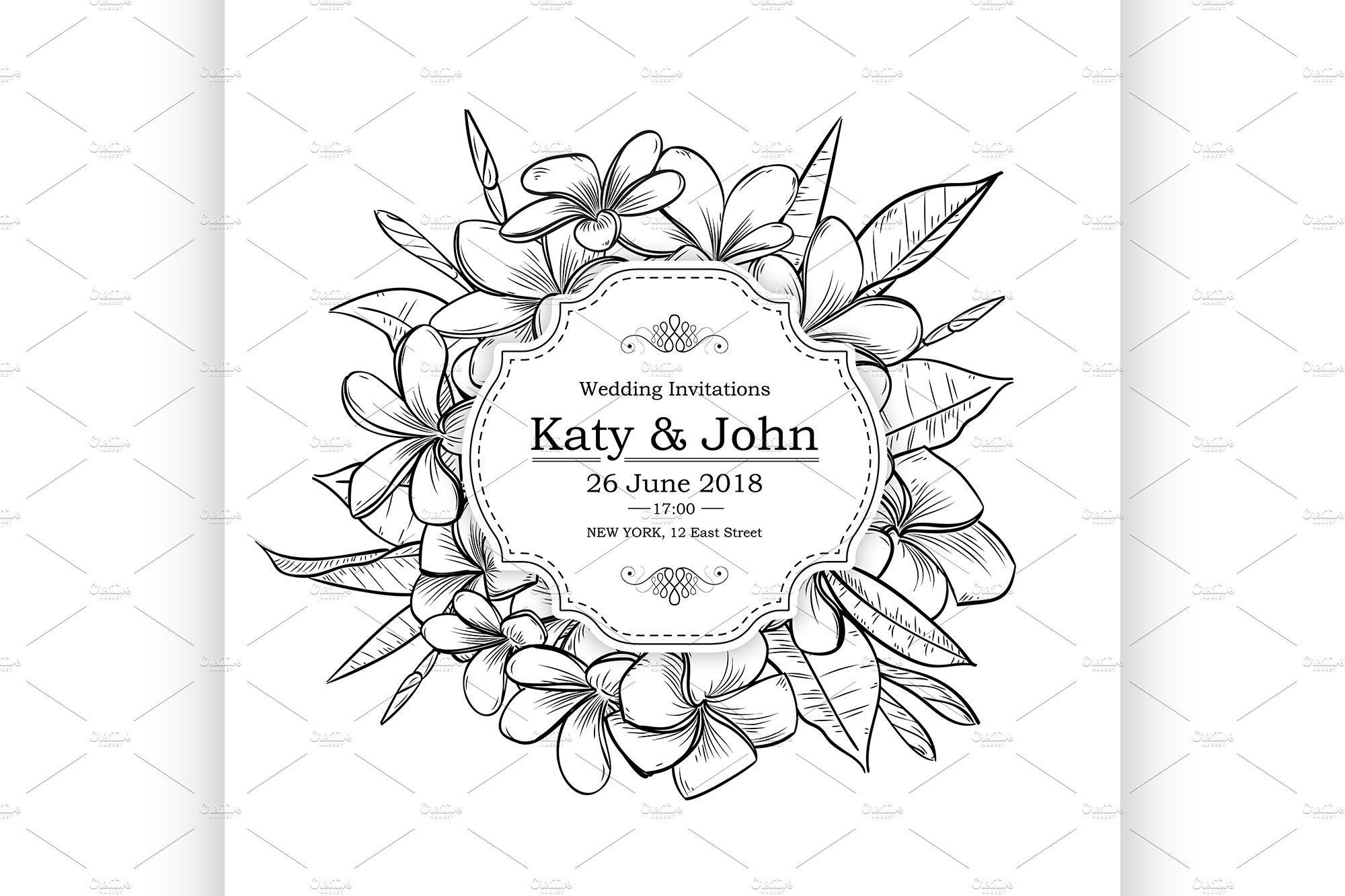 vintage elegant wedding invitation ~ Illustrations ~ Creative Market