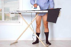Man Ironing Pants