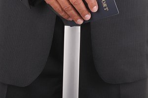Business Traveler with Passport