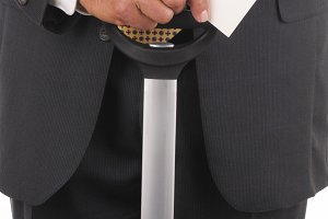Business Traveler with Boarding Pass