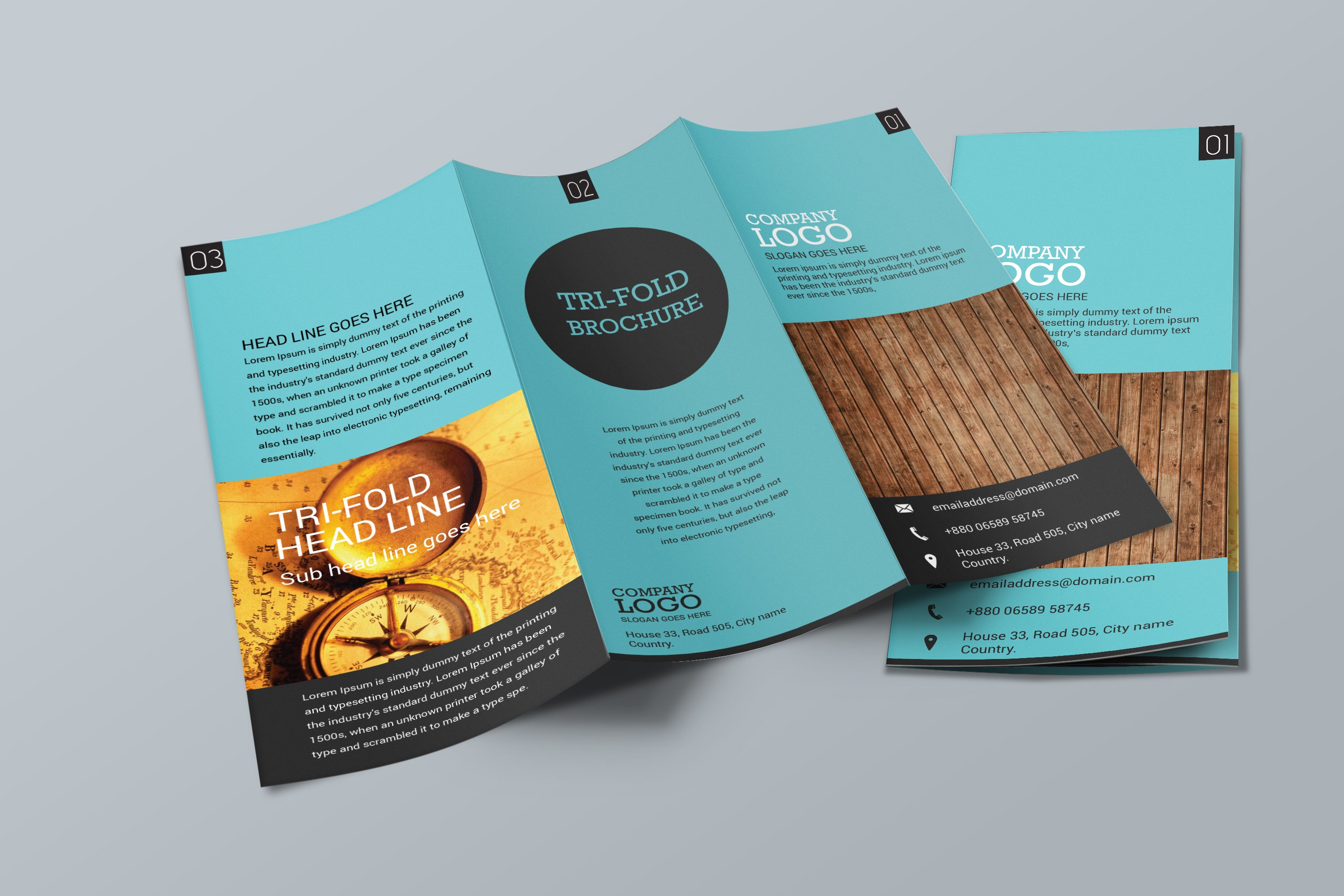 simple trifold brochure design brochure templates creative market