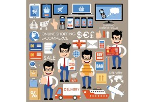 Internet online shopping set