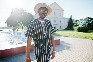 Stylish african black man