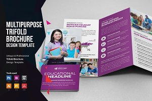Multipurpose Trifold Brochure Design
