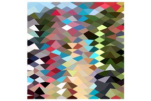 Multi Color Abstract Low Polygon Bac