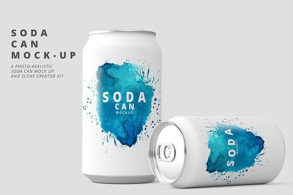soda can mockup product mockups creative market