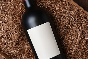 Cabernet Wine Bottle in Packing Stra