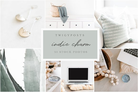Indie Charm 30 Styled Stock Photos