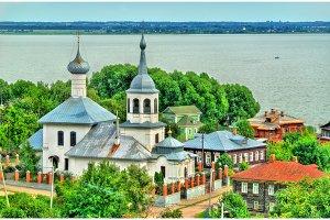 Church of St. Nicholas with Lake Nero in Rostov Veliky, Russia