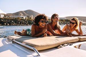 Women friends relaxing