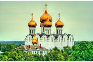 View of the Assumption Cathedral in Yaroslavl, Russia