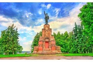 Soviet monument to Vladimir Lenin in Kostroma, Russia