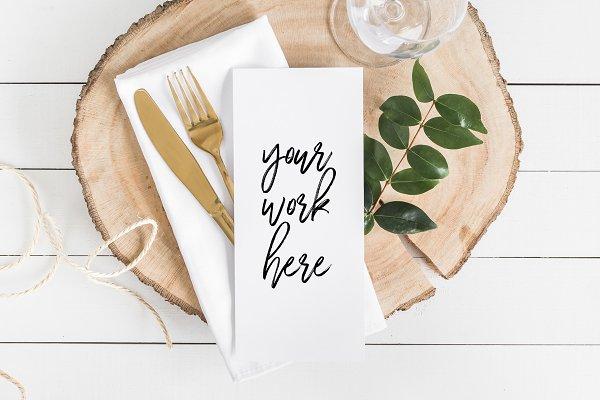 Menu Card Mockup / Wedding Program