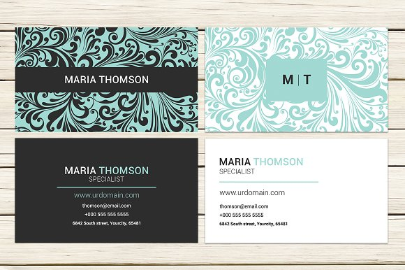swirly modern business card template business card templates