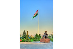 Tajikistan flag on the second tallest in the world flagpole. Dushanbe