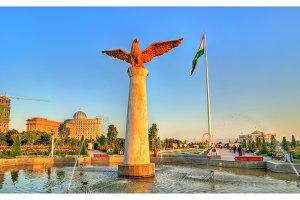 National Flag Park in Dushanbe, Tajikistan