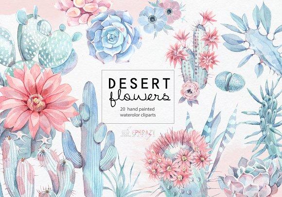 Desert Flowers Cacti Clipart