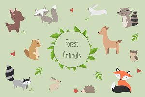 Forest Animals Vector Pack