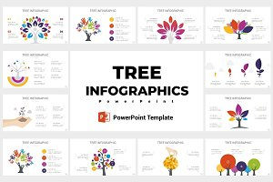 Tree infographics PowerPoint
