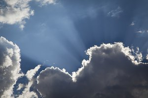 Dramatic Clouds with Sun Rays